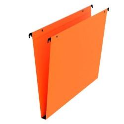 Dossier suspendu orange tiroir fond 15mm  par 25 boutons pression