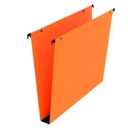 Dossier suspendu orange tiroir fond 30mm  par 25 boutons pression