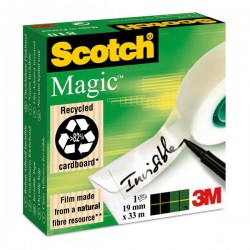 Ruban adhesif invisible 19 mm x 33 mm - Scotch Magic 810