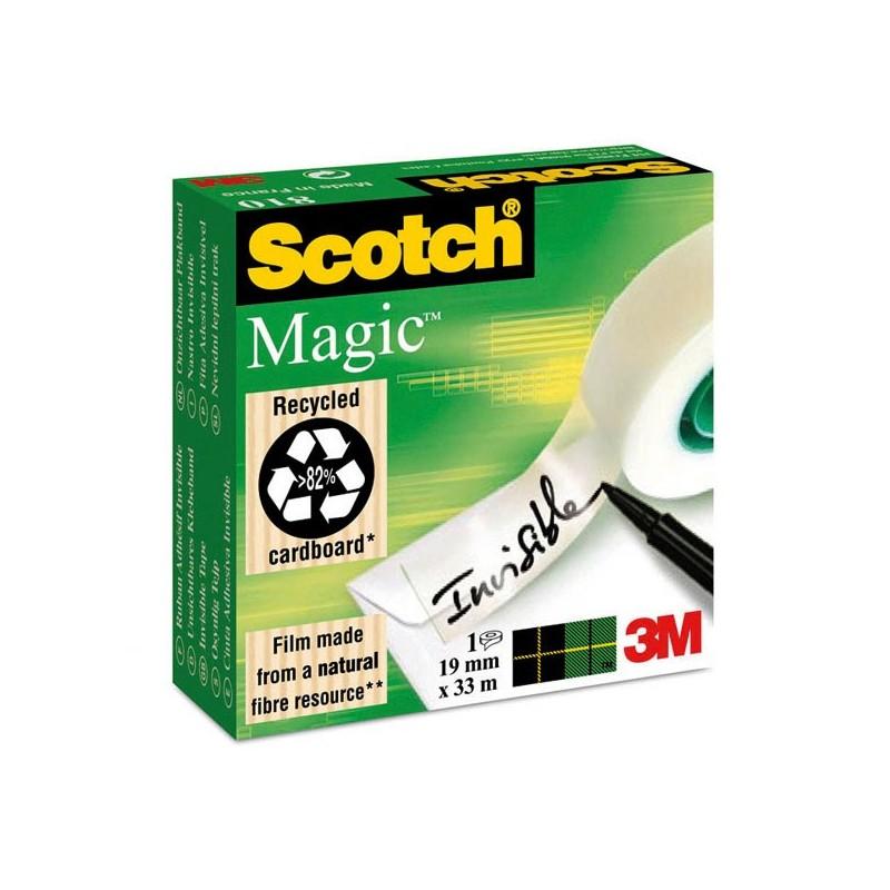 Ruban adhesif invisible 19 mm x 33 mm - Scotch Magic 810