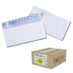 Enveloppes ECO 110 x 220 mm - Bte 500 - 75g Autoadhesif