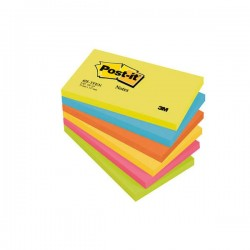Lot 6 Blocs Post-it Energie 76 X 127 mm