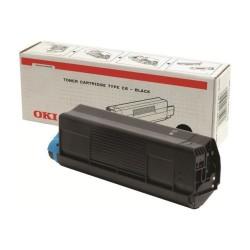 Toner OKI C5100/5200/5300/5400 5000pages OEM 42127408 | Noir