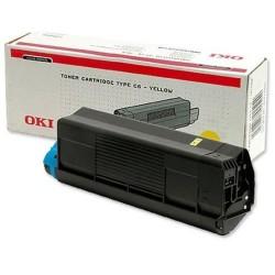 Toner OKI C5100/5200/5300/5400 5000pages OEM 42127405 | Jaune