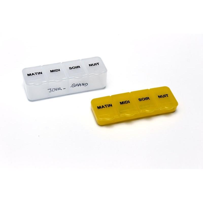Piluliers journaliers en 2 tailles panachées