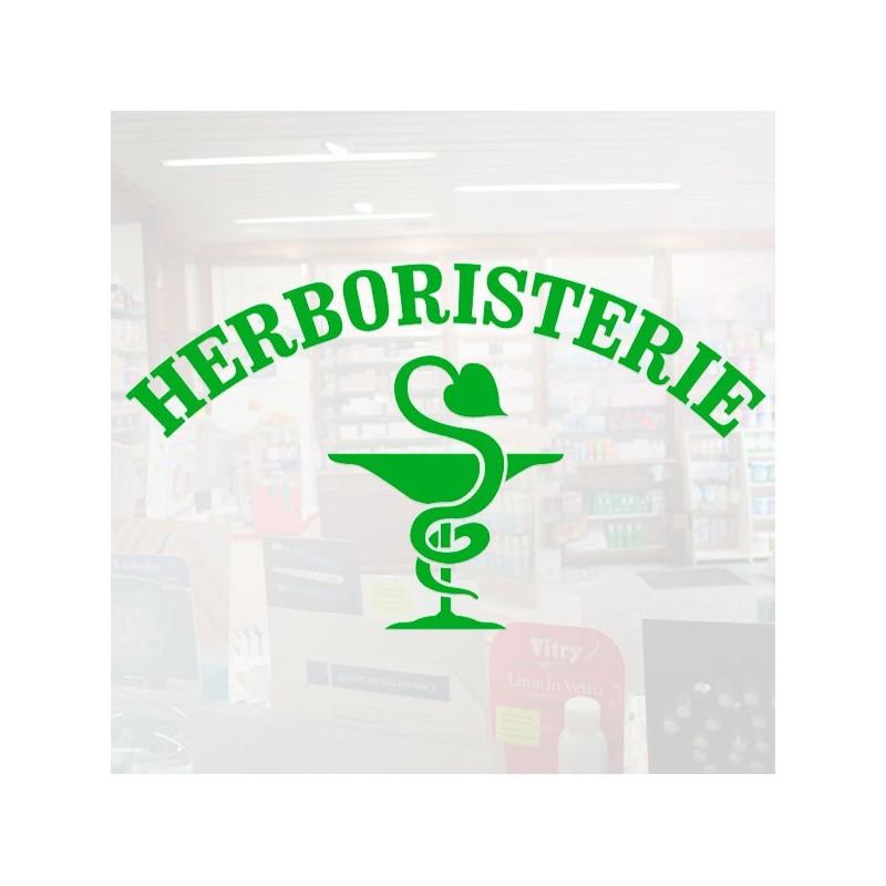 Visuel Herboristerie caducée 105 x 60 cm pour vitrophanie