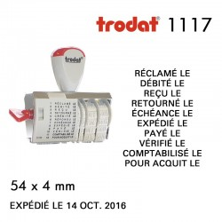 Dateur Trodat Manuel 1117 Multiformules (54x4mm)
