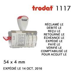 Dateur Trodat Manuel 1117 Multiformules (54x4mm)