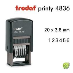 Numéroteur Trodat Printy 4836 (20x3,8mm) 6 caractères