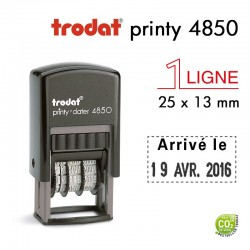 Tampon Dateur Trodat Printy 4850, 1 ligne (25x13mm)