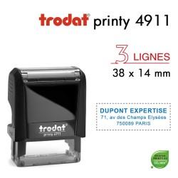 Tampon Trodat Printy 4911, 3 lignes (38x14mm)
