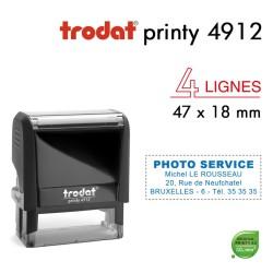 Tampon Trodat Printy 4912, 4 lignes (47x18mm)