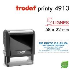 Tampon Trodat Printy 4913, texte 5 lignes (58x22mm)