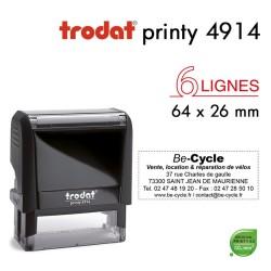 Tampon Trodat Printy 4914, texte 6 lignes (64x26mm)