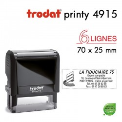 Tampon Trodat Printy 4915, texte 70x25mm
