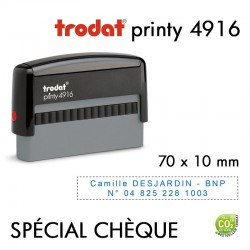 Tampon Trodat Printy 4916, 2 lignes (70x10mm)