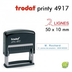 Tampon Trodat Printy 4917, texte 2 lignes (50x10mm)