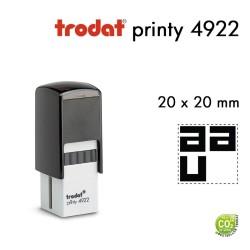 Tampon Trodat Printy 4922, texte 4 lignes(20x20mm)