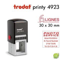 Tampon Trodat  Printy 4923, texte 6 lignes(30x30mm)
