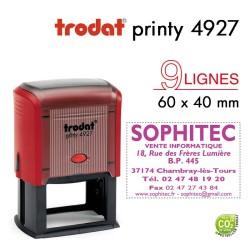 Tampon Trodat Printy 4927, texte 9 lignes (60x40mm)