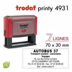 Tampon Trodat  Printy 4931, texte 7 lignes (70x30mm)