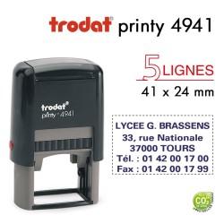 Tampon Trodat Printy 4941, texte 5 lignes (41x24mm)