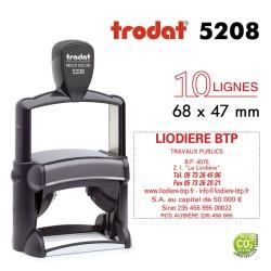 Tampon Trodat Métal line 5208, 10 lignes (68x47mm)