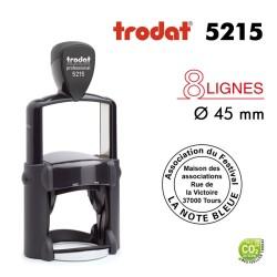 Tampon Trodat Métal line 5215 Rond 8 ligne, Diamètre 45mm