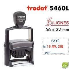 Tampon Dateur Trodat Métal line 5460L2 Payé le... par... (56x32mm)