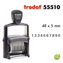 Numéroteur Trodat Metal Line 55510 (49x5mm) 10 caractères
