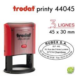 Tampon Trodat Printy 44045 Ovale pour 5 lignes, 45x30mm