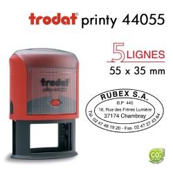 Tampon Trodat Printy 44055 Ovale pour 5 lignes, 55x35mm