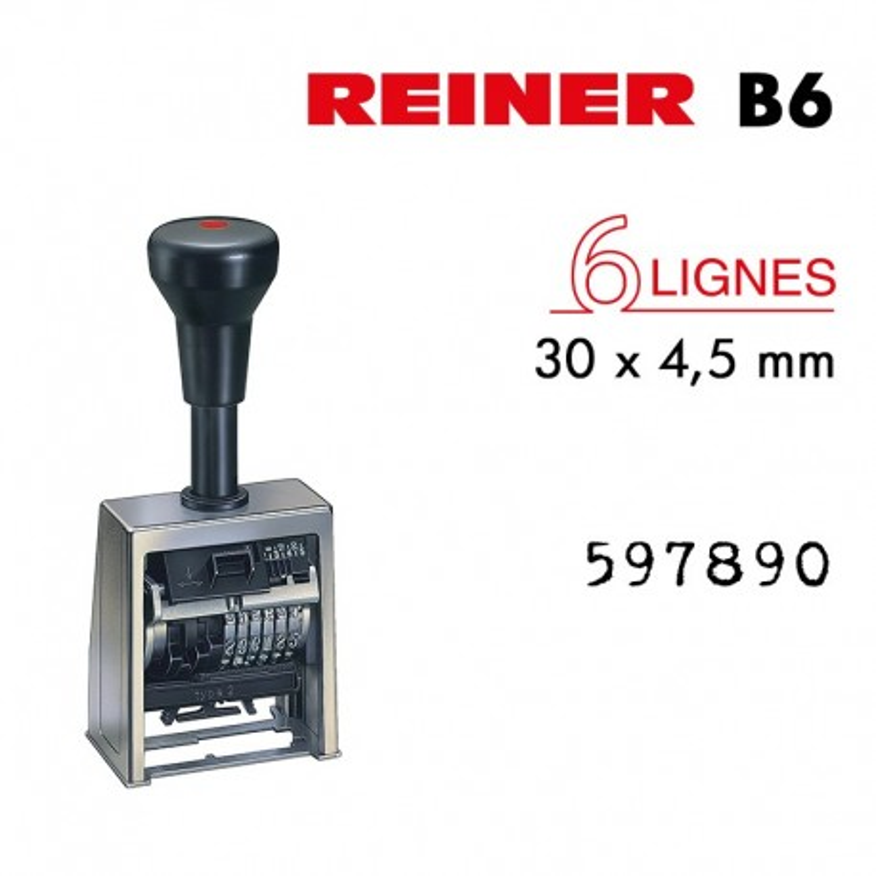 NUMEROTEUR REINER B6K 6 CHIFFRES