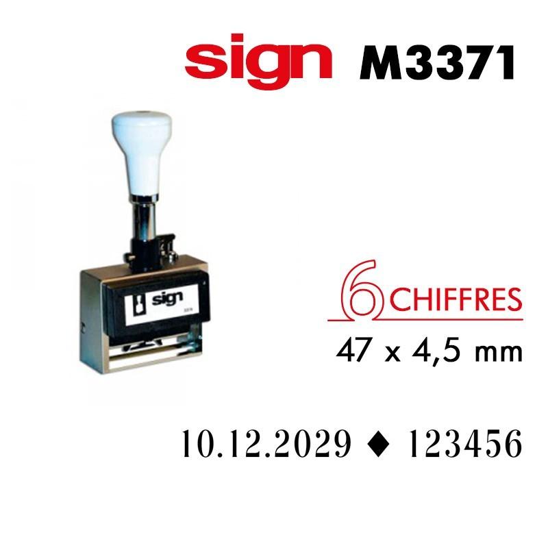DATEUR ET FOLIOTEUR SIGN M3371