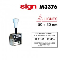 Dateur Folioteur SIGN M3376 (50x30mm)