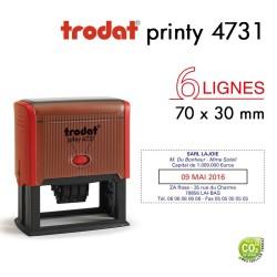 Tampon Dateur Trodat Printy 4731, 6 lignes (70x30mm)