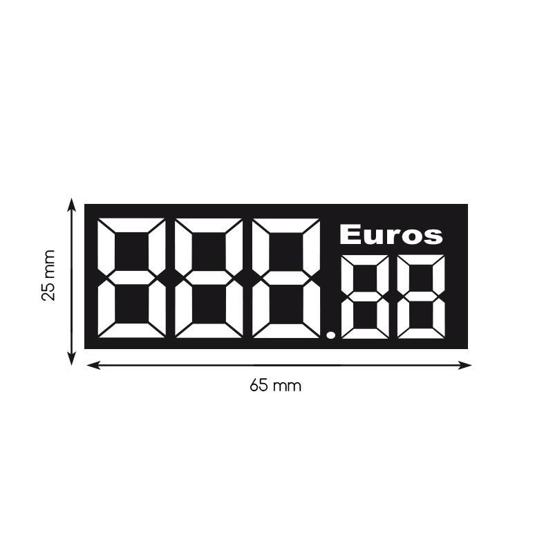 Etiquette digiprix 25x65mm euros (lot de 480)