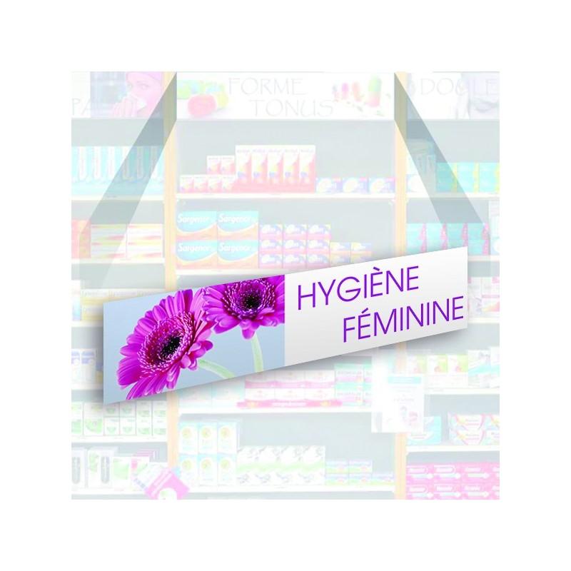 Bandeau d'habillage illustré - Hygiène féminine