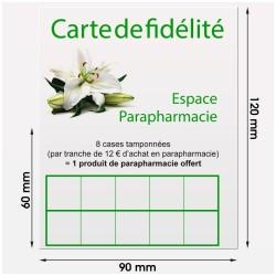 Carte de fidélité (120x90mm) sur Carte 250g/m²