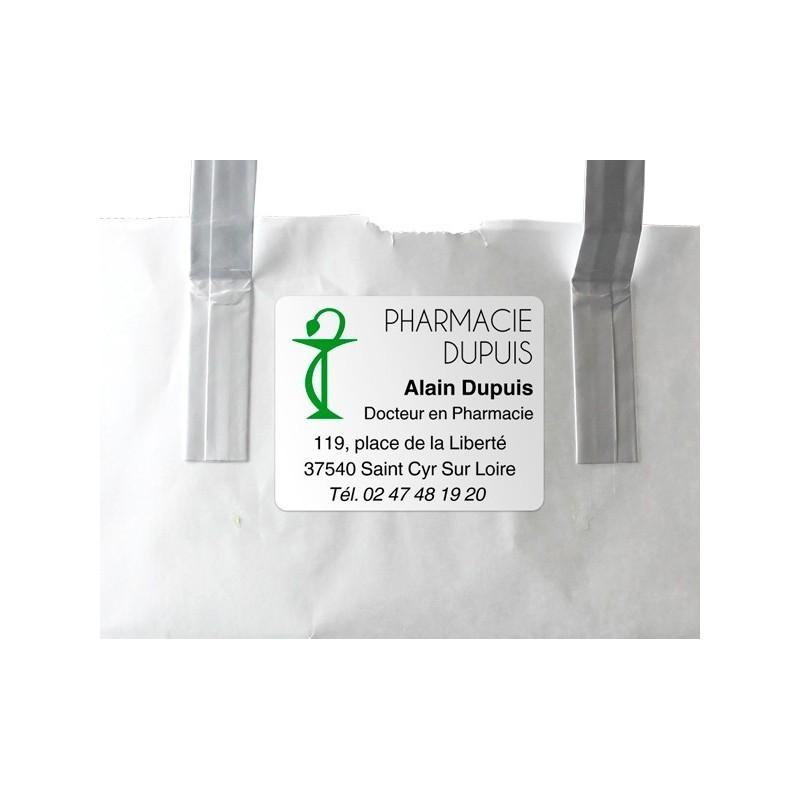 Etiquette Pharmacie personnalisée 50x40mm Par 500