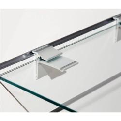 Etagères en verre pour panneau rainuré
