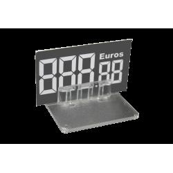 Support prix 40x50mm fixation droite par 10