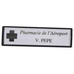Badge Luxe Personnalisé - Blanc