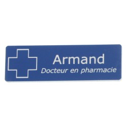 Badge en acrylique arrondi bleu