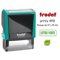 Tampon Trodat Xprint, LETTRE VERTE