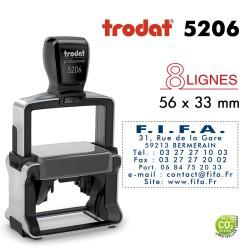 Tampon Trodat Métal line 5206, 8 lignes (56x33mm)