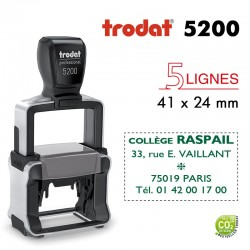 Tampon Trodat Métal line 5200, 5 lignes (41x24mm)