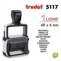 Dateur Trodat Métal line 5117, Multiformules (48x4mm)