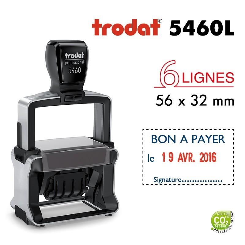 Tampon Dateur Trodat Métal line 5460L5 Bon à payer le.. (56x32mm)