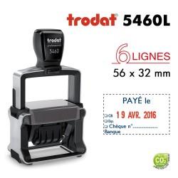 Tampon Dateur Trodat Métal line 5460L10 Payé le../Banque (56x32mm)